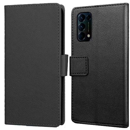 Productafbeelding van de Just in Case PU-leer Book Case Zwart Oppo Find X3 Lite