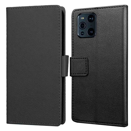 Productafbeelding van de Just in Case PU-leer Book Case Zwart Oppo Find X3 Pro
