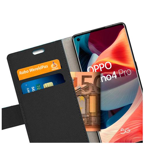 Productafbeelding van de Just in Case PU-leer Book Case Zwart Oppo Reno 4 Pro