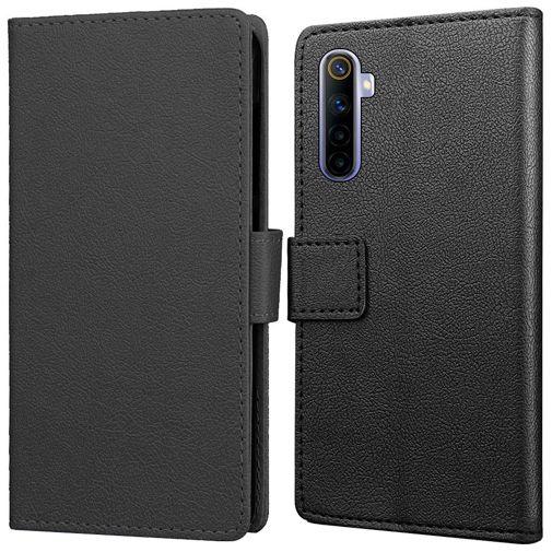 Productafbeelding van de Just in Case PU-leer Book Case Zwart Realme 6S
