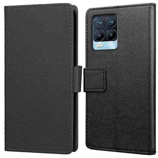 Productafbeelding van de Just in Case PU-leer Book Case Zwart Realme 8/8 Pro
