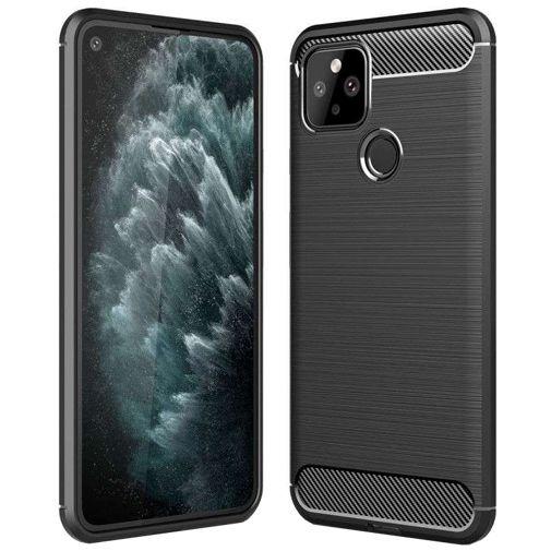 Productafbeelding van de Just in Case Rugged TPU Back Cover Google Pixel 5 Zwart