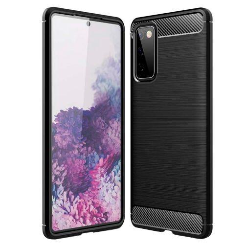 Productafbeelding van de Just in Case Rugged TPU Back Cover Samsung Galaxy S20 FE Zwart