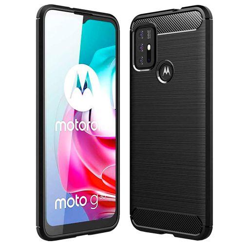Productafbeelding van de Just in Case Rugged TPU Back Cover Zwart Motorola Moto G30