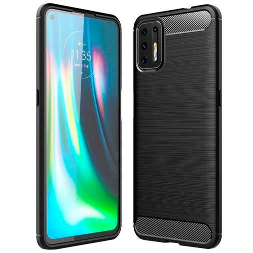 Productafbeelding van de Just in Case Rugged TPU Back Cover Zwart Motorola Moto G9 Plus