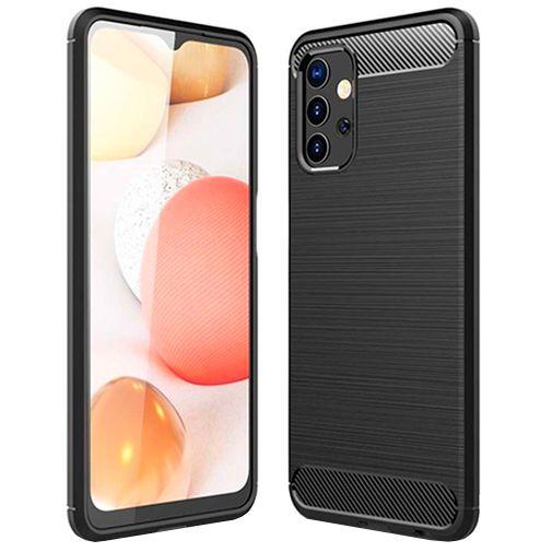 Productafbeelding van de Just in Case Rugged TPU Back Cover Zwart Samsung Galaxy A32 5G
