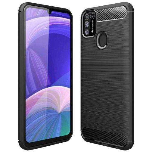 Productafbeelding van de Just in Case Rugged TPU Back Cover Zwart Samsung Galaxy M31