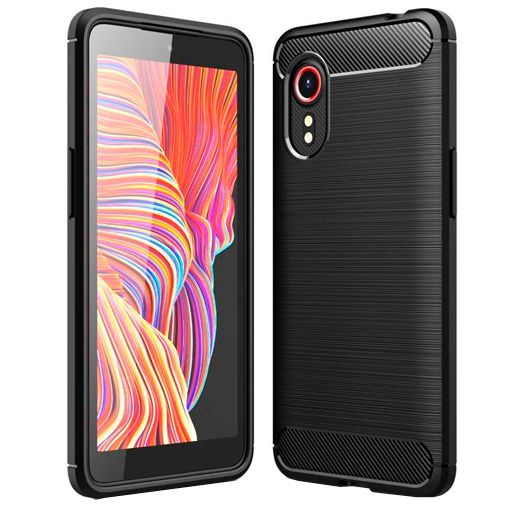 Productafbeelding van de Just in Case Rugged TPU Back Cover Zwart Samsung Galaxy Xcover 5