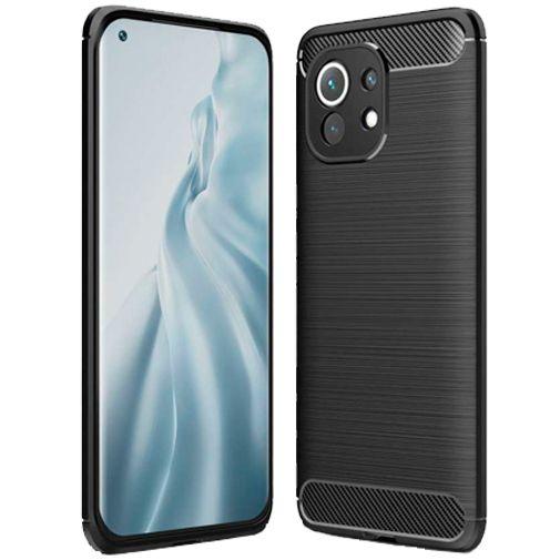 Productafbeelding van de Just in Case Rugged TPU Back Cover Zwart Xiaomi Mi 11