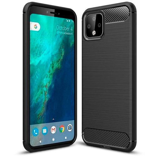 Produktimage des Just in Case Rugged TPU Case Schwarz Google Pixel 4 XL