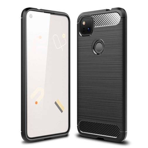 Productafbeelding van de Just in Case Rugged TPU Case Black Google Pixel 4a