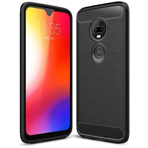 Productafbeelding van de Just in Case Rugged TPU Case Black Motorola Moto G7 Power