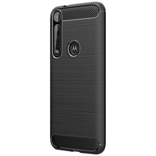 Produktimage des Just in Case Rugged TPU Case Schwarz Motorola Moto G8 Plus