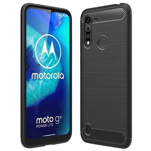Productafbeelding van de Just in Case Rugged TPU Case Black Motorola Moto G8 Power Lite