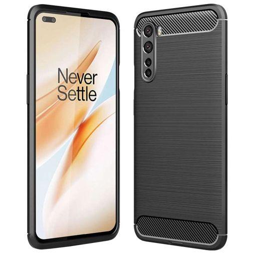 Productafbeelding van de Just in Case Rugged TPU Case Black OnePlus Nord