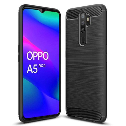 Productafbeelding van de Just in Case Rugged TPU Case Black Oppo A5 (2020)