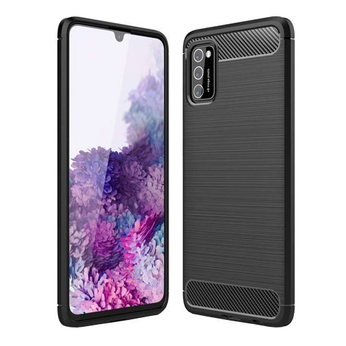Productafbeelding van de Just in Case Rugged TPU Back Cover Zwart Samsung Galaxy A02s