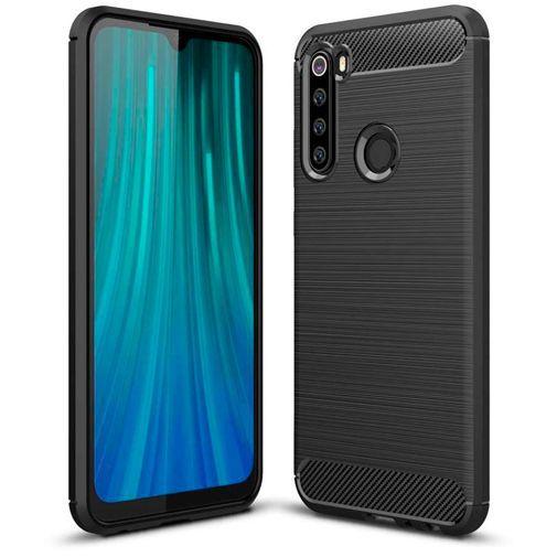 Produktimage des Just in Case Rugged TPU Case Schwarz Xiaomi Redmi Note 8