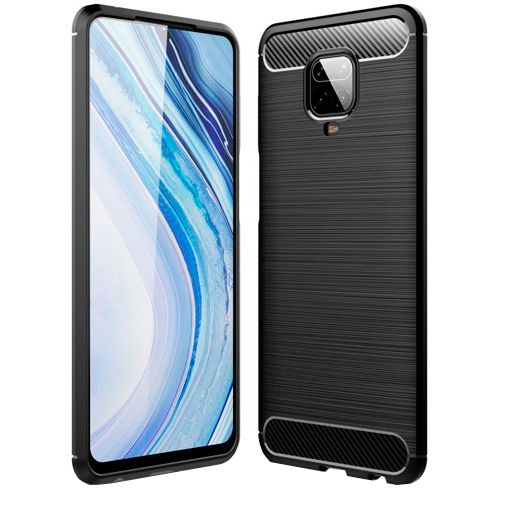 Productafbeelding van de Just in Case Rugged TPU Case Black Xiaomi Redmi Note 9 Pro