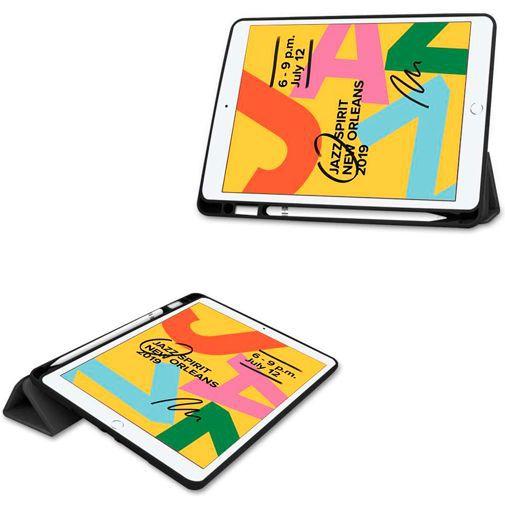 Produktimage des Just in Case Smart Tri-Fold Case (mit Pencil halter) Schwarz Apple iPad 2019/2020