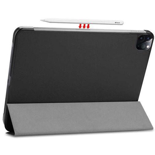 Productafbeelding van de Just in Case Smart Tri-Fold Case Black Apple iPad Pro 2020 12.9