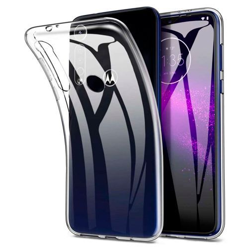 Produktimage des Just in Case Soft TPU Case Clear Motorola One Macro