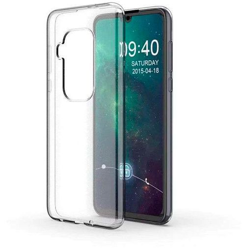 Produktimage des Just in Case Soft TPU Case Clear Motorola One Zoom