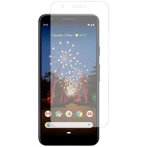 Produktimage des Just in Case Gehärtetes Glas Displayschutzfolie Google Pixel 3a