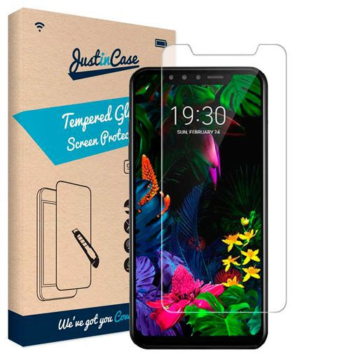 Productafbeelding van de Just in Case Tempered Glass Screenprotector LG G8s ThinQ