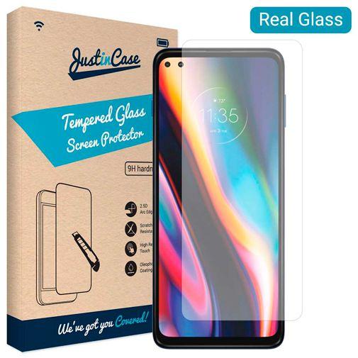 Productafbeelding van de Just in Case Tempered Glass Screenprotector Motorola Moto G 5G Plus