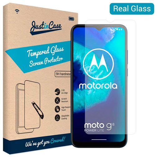Productafbeelding van de Just in Case Tempered Glass Screenprotector Motorola Moto G8 Power Lite