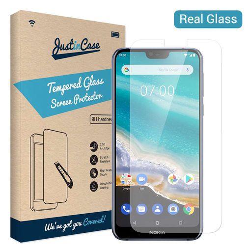 Productafbeelding van de Just in Case Tempered Glass Screenprotector Nokia 7.1