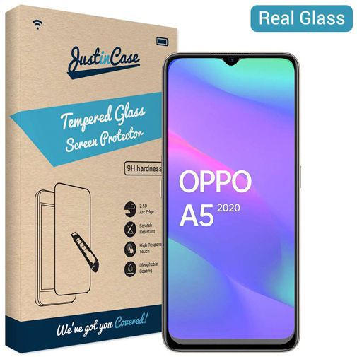 Productafbeelding van de Just in Case Tempered Glass Screenprotector Oppo A5 (2020)
