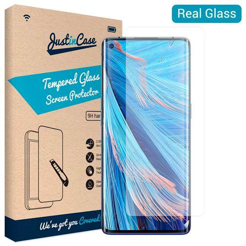 Produktimage des Just in Case Gehärtetes Glas Displayschutzfolie Oppo Find X2 Neo