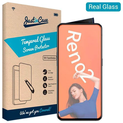 Productafbeelding van de Just in Case Tempered Glass Screenprotector Oppo Reno 2