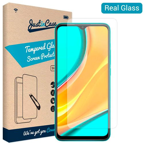 Productafbeelding van de Just in Case Tempered Glass Screenprotector Xiaomi Redmi Note 9