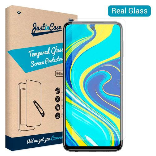 Productafbeelding van de Just in Case Tempered Glass Screenprotector Xiaomi Redmi Note 9S/Note 9 Pro