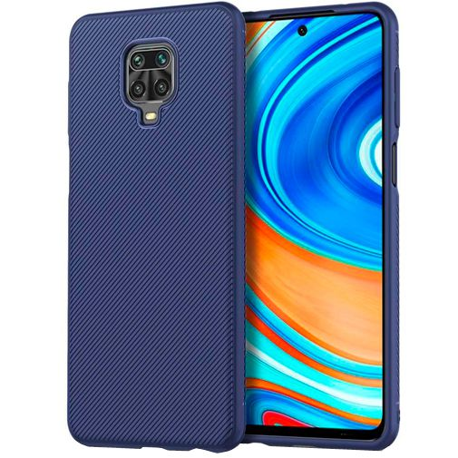 Productafbeelding van de Just in Case Texture TPU Case Blue Xiaomi Redmi Note 9 Pro