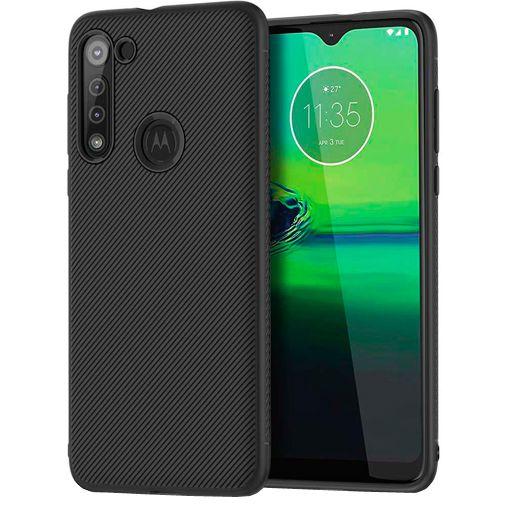 Productafbeelding van de Just in Case Texture TPU Case Black Motorola Moto G8