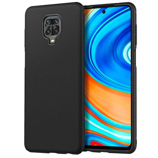 Productafbeelding van de Just in Case Texture TPU Case Black Xiaomi Redmi Note 9 Pro