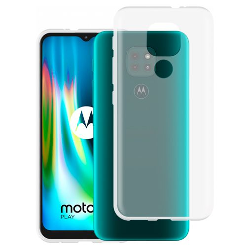 Productafbeelding van de Just in Case TPU Back Cover Motorola Moto G9 Play Transparant