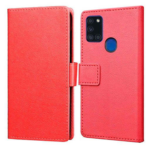 Productafbeelding van de Just in Case Wallet Case Red Samsung Galaxy A21s