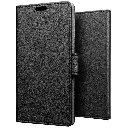 Produktimage des Just in Case Wallet Case Schwarz Huawei Y6p