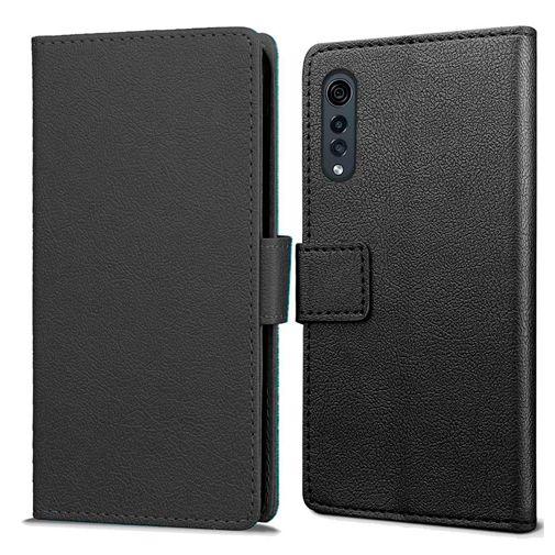 Productafbeelding van de Just in Case Wallet Case Black LG Velvet