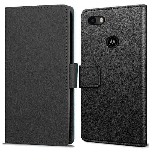 Productafbeelding van de Just in Case Wallet Case Black Motorola Moto E6 Play