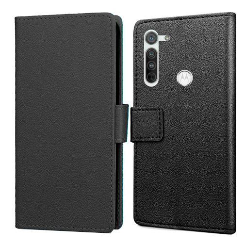 Productafbeelding van de Just in Case Wallet Case Black Motorola Moto G8