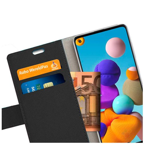 Productafbeelding van de Just in Case Wallet Case Black Samsung Galaxy A21s