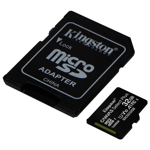 Produktimage des Kingston Canvas Select Plus microSDHC 32GB + SD-Adapter