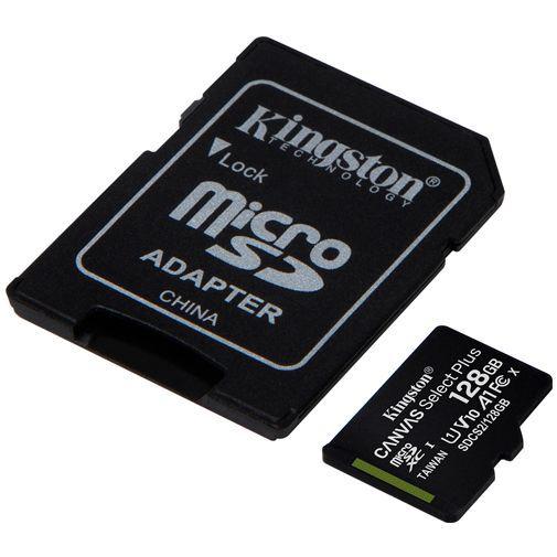Productafbeelding van de Kingston Canvas Select Plus microSDXC 128GB + SD-adapter