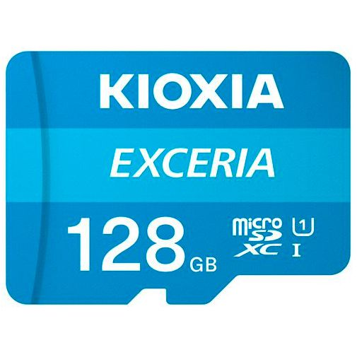 Productafbeelding van de Kioxia Exceria MicroSDXC 128GB + SD-adapter
